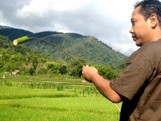 alat pengusir burung tradisional besoa
